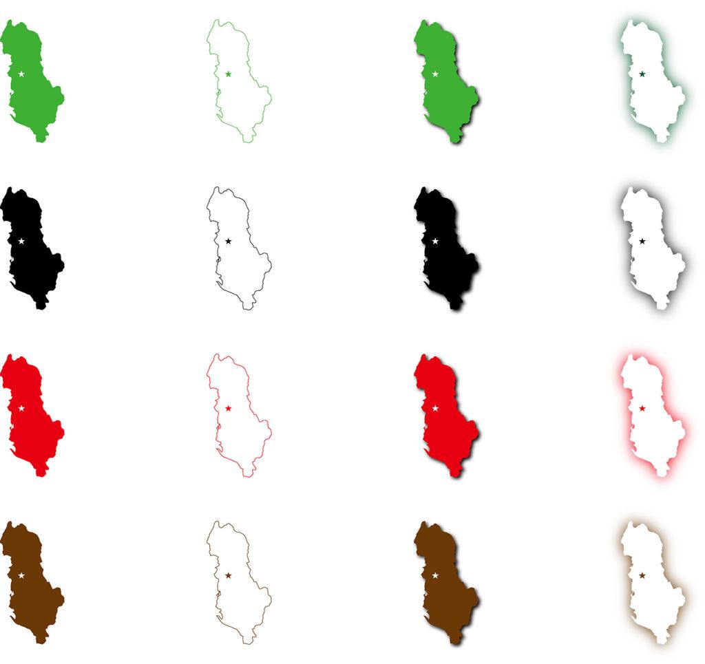 アルバニア地図