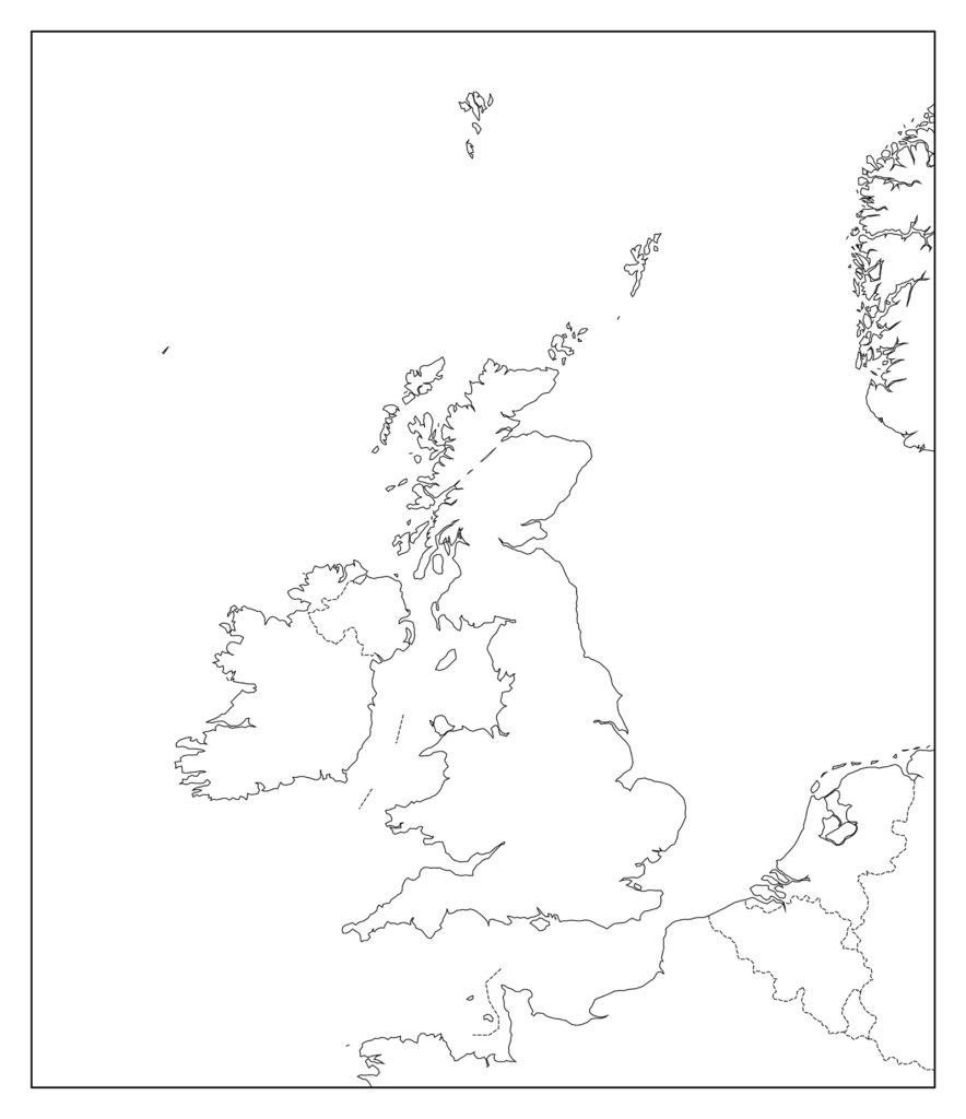 イギリス白地図