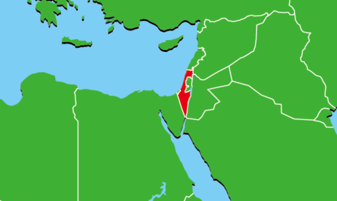 イスラエルの地図