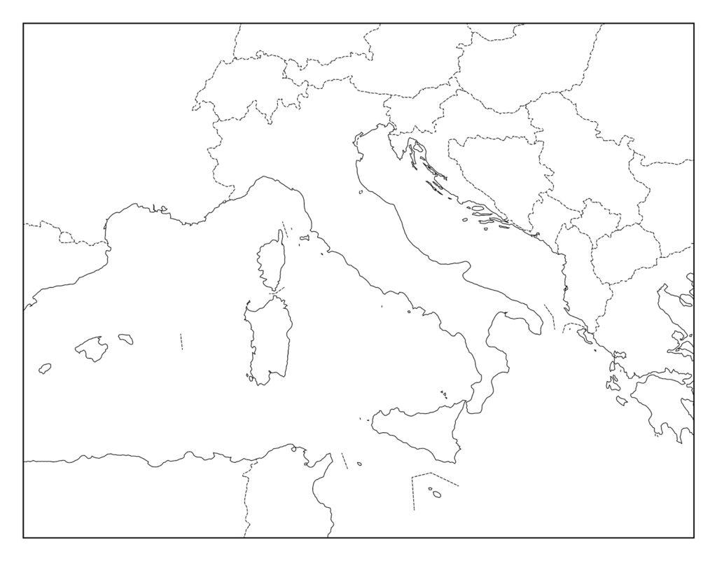 イタリア白地図