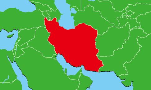 イランの地図