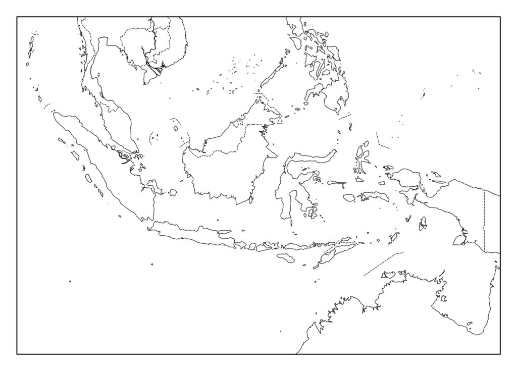 インドネシア白地図