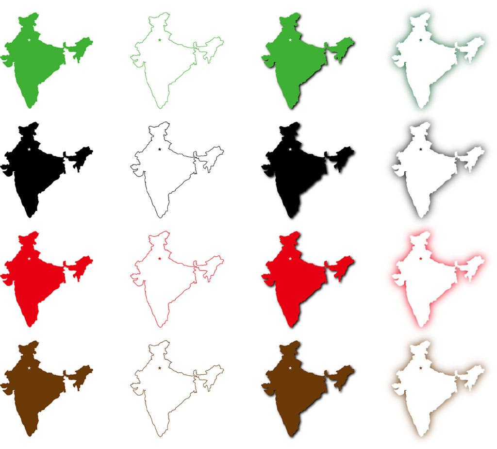 インド地図