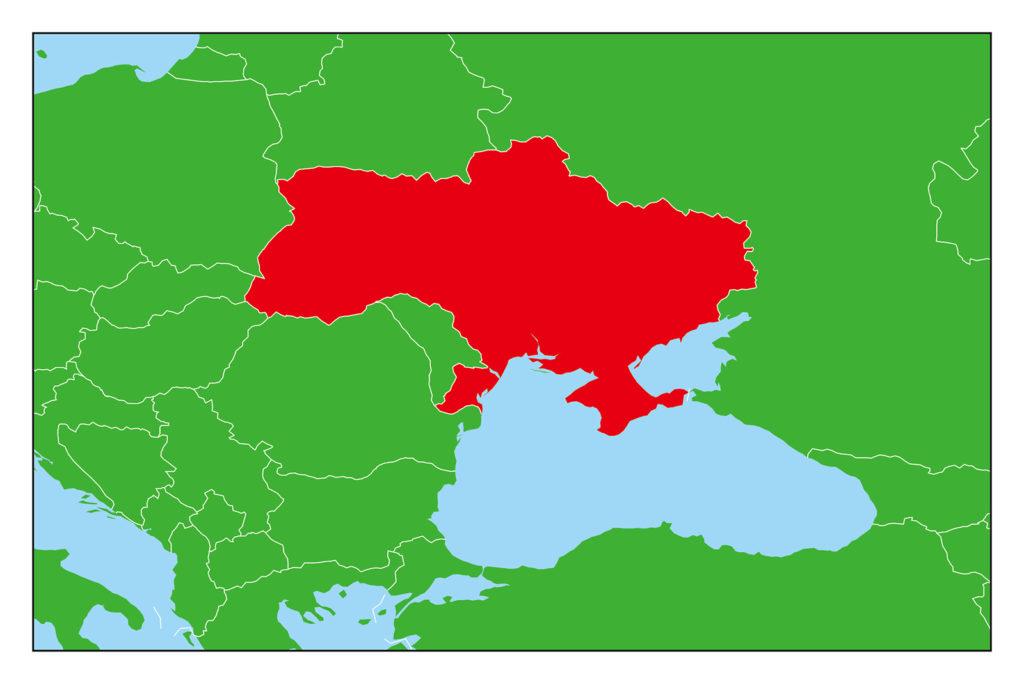 ウクライナのフリー素材地図   世界地図