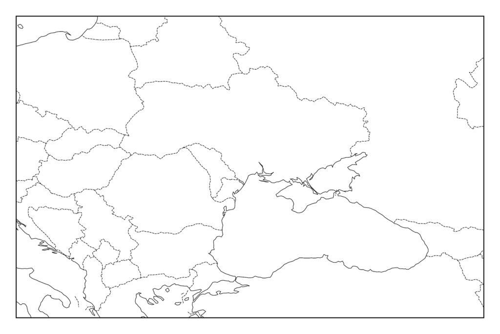 ウクライナ白地図