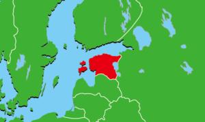 エストニア地図