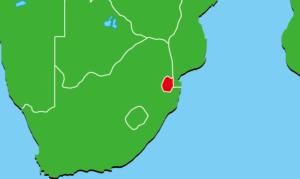 エスワティニ王国地図