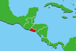 エルサルバドル地図