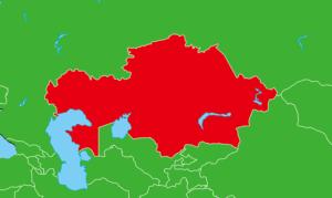 カザフスタン地図