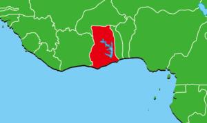 ガーナ地図