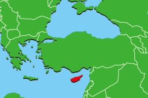 キプロスの地図