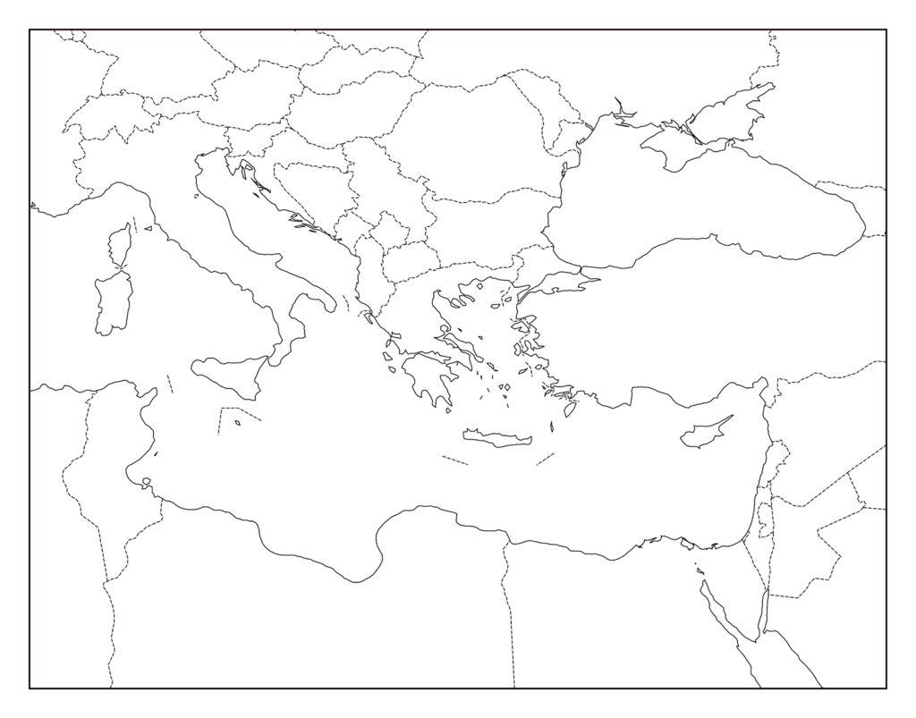 ギリシャのフリー素材地図 | 世界地図