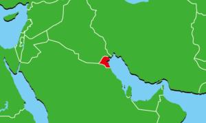 クウェートの地図