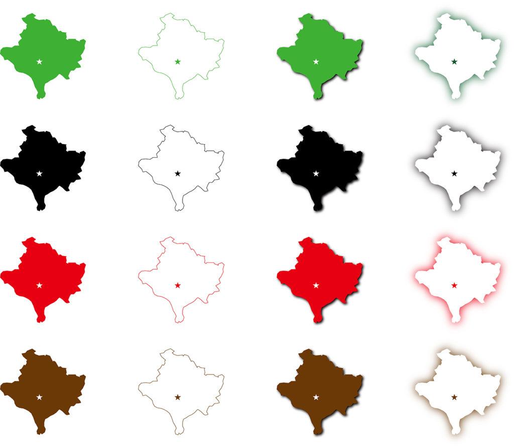 コソボ地図