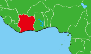 コートジボワール地図