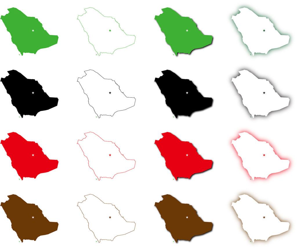 サウジアラビア地図