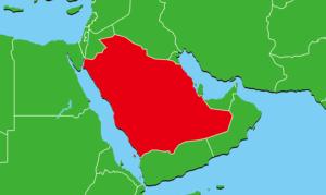 サウジアラビアの地図