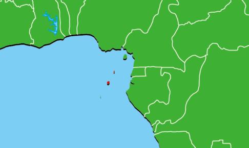 サントメ・プリンシペ地図
