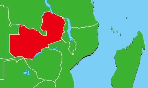 ザンビア地図