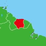 スリナム地図