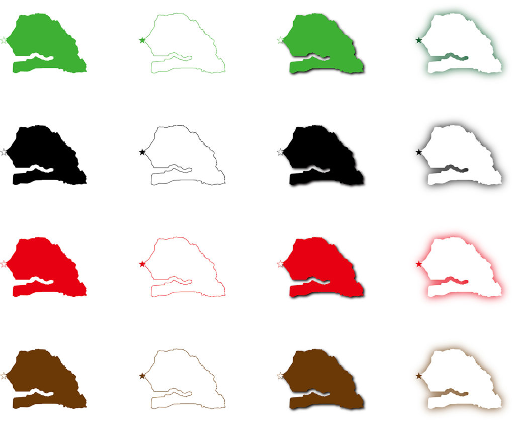セネガル地図