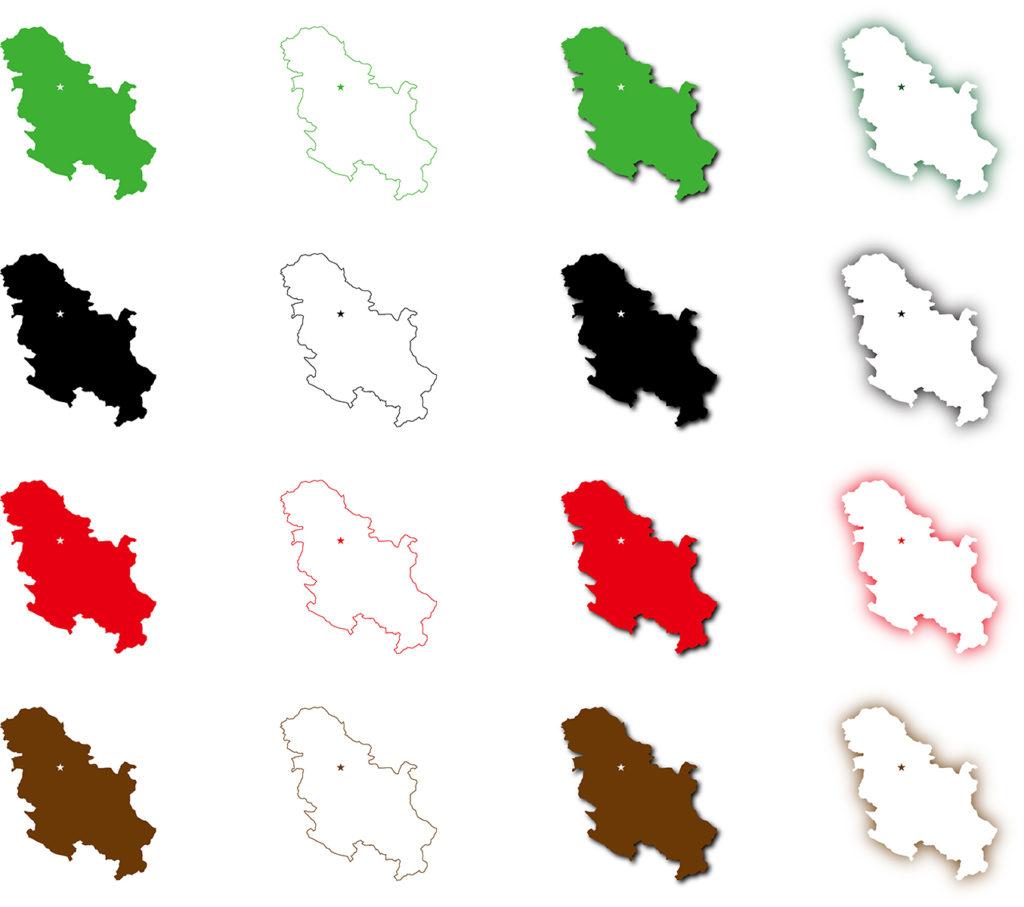 セルビア地図