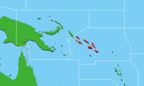 ソロモン諸島地図