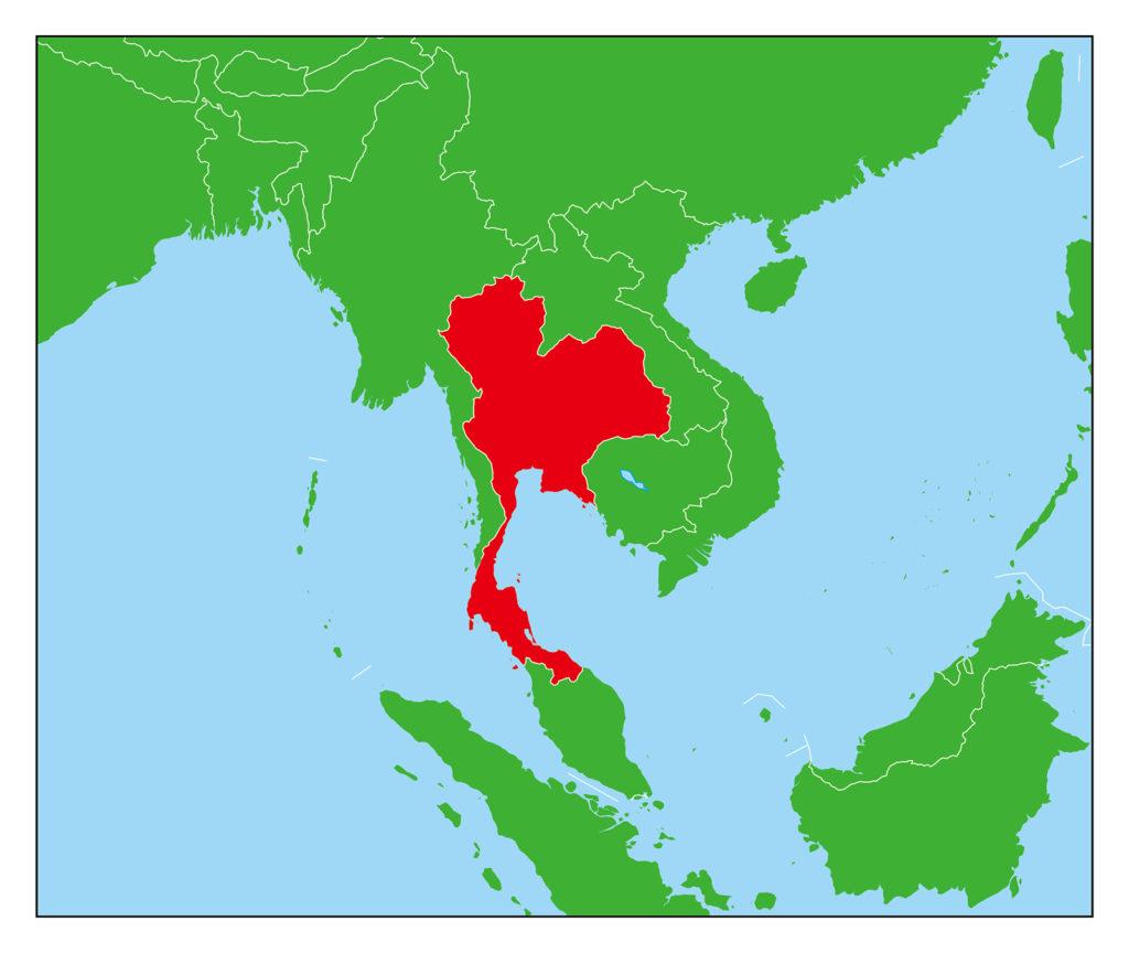 タイ地図-赤