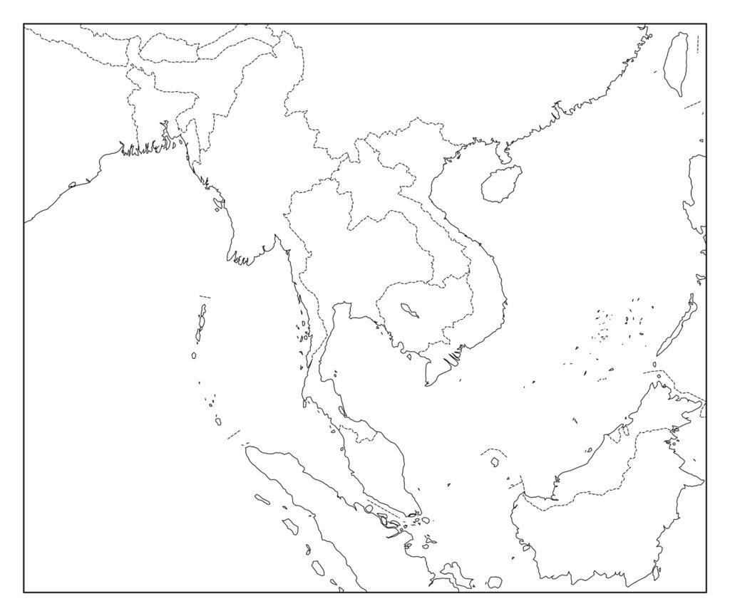 タイ白地図