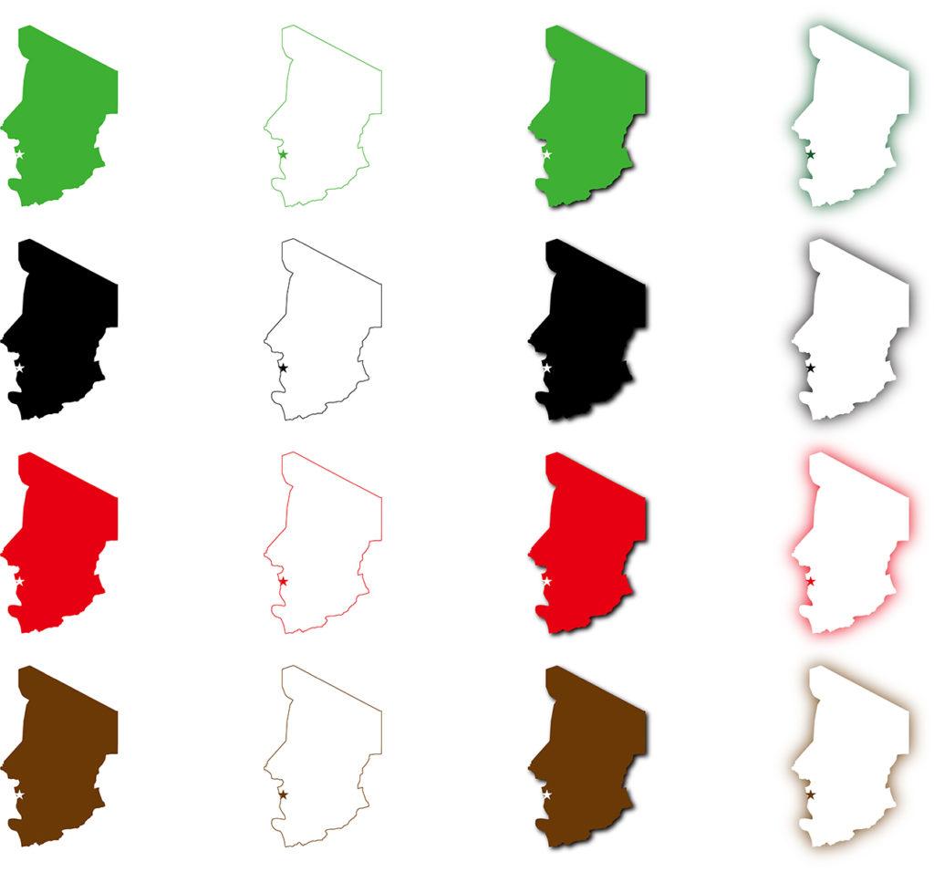 チャド地図
