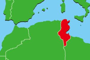 チュニジア地図