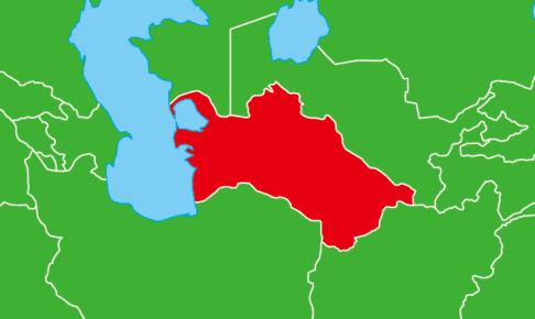 トルクメニスタン地図