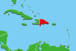 ドミニカ共和国地図