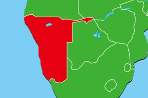 ナミビア地図