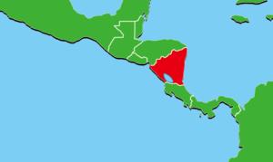 ニカラグア地図