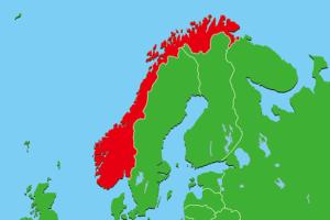 ノルウェー地図