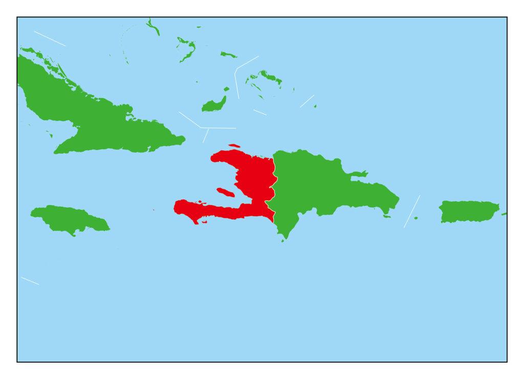 ハイチのフリー素材地図 | 世界地図