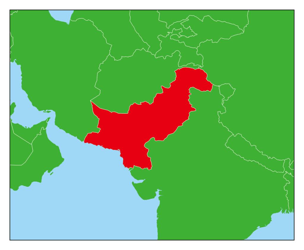 パキスタンのフリー素材地図 | 世界地図