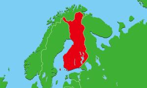 フィンランド地図