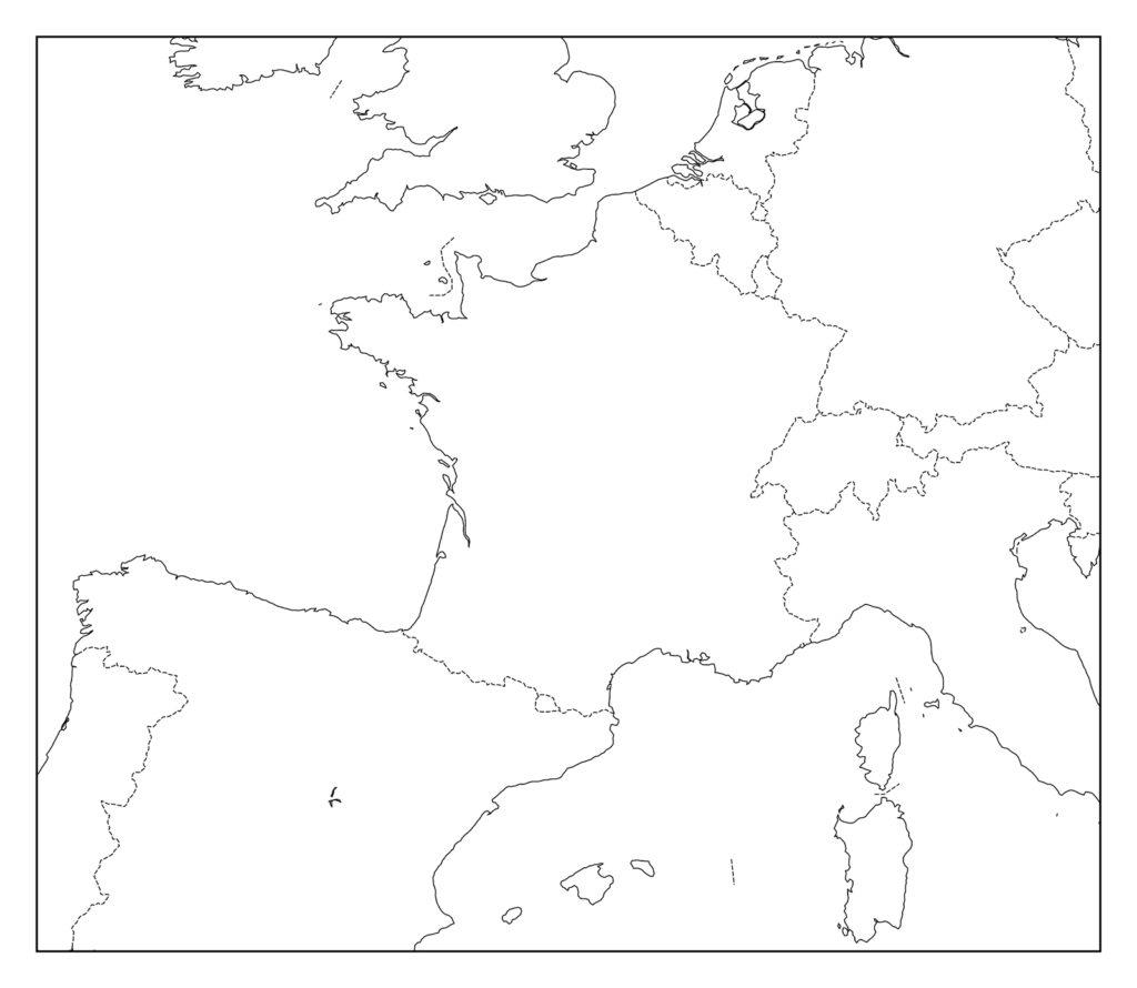 フランス白地図