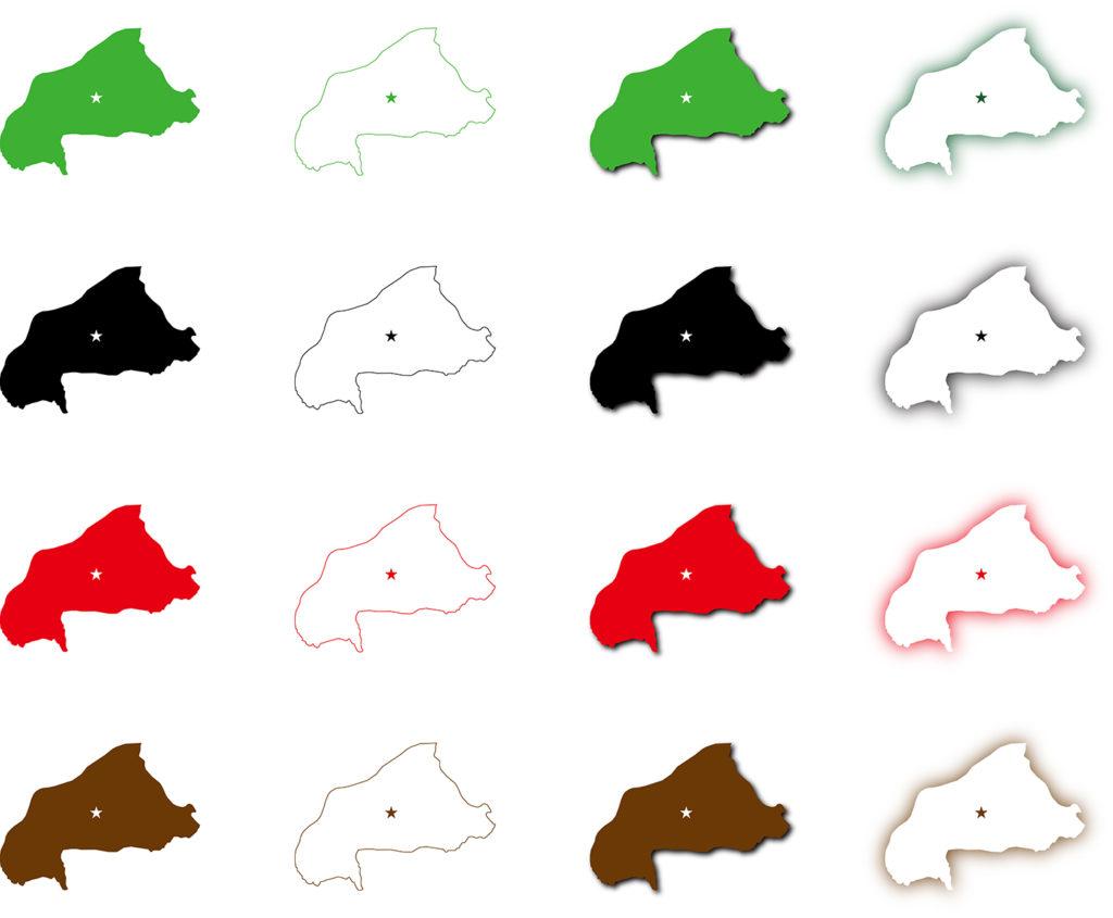 ブルキナファソ地図