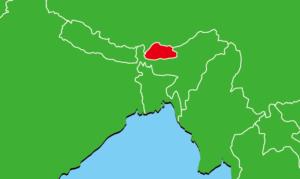 ブータンの地図