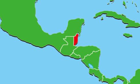 ベリーズ地図
