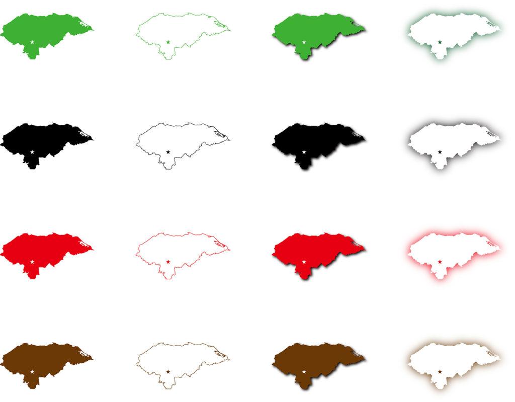 ホンジュラス地図
