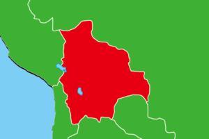 ボリビア地図