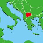 北マケドニア地図