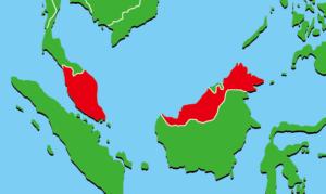マレーシアの地図
