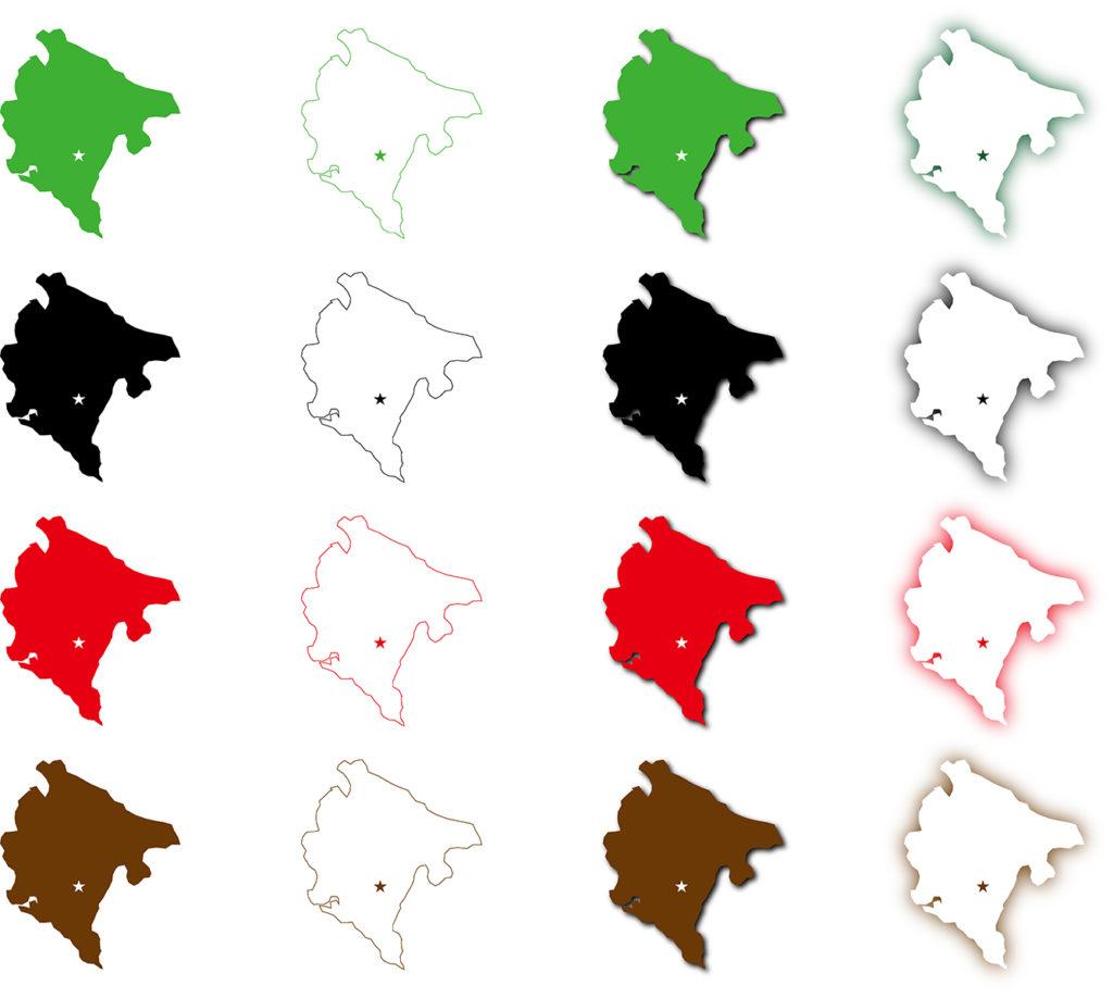 モンテネグロ地図