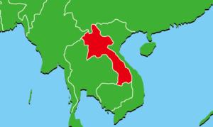 ラオスの地図