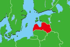 ラトビア地図